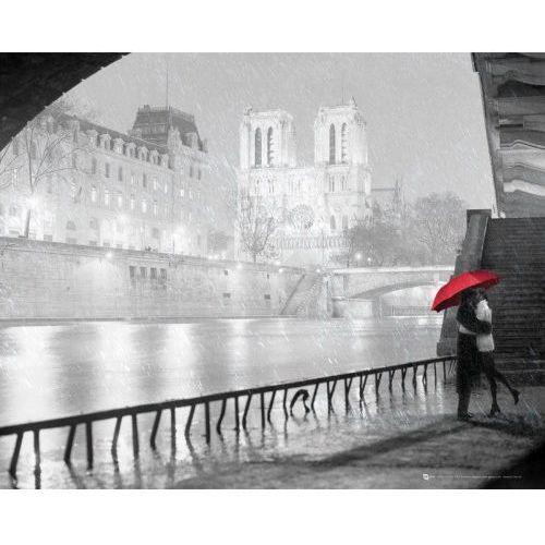Gb Paryż katedra notre dame zakochani - plakat (5028486364329)