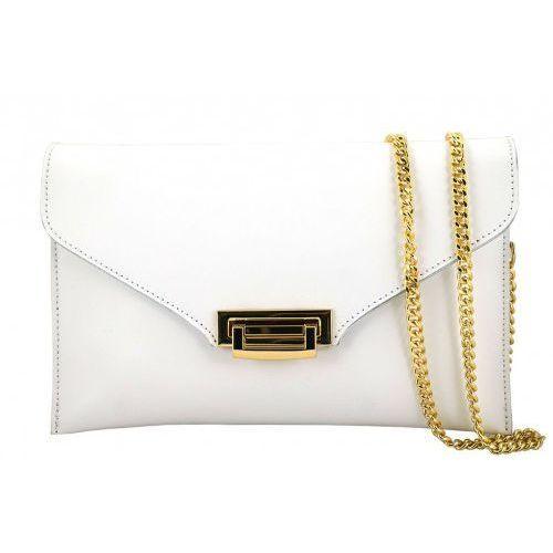 - torebki damskie wizytowe - kopertówki - biały marki Barberini's