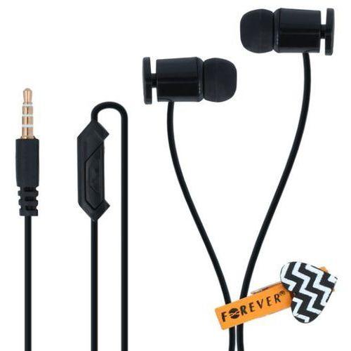 Słuchawki dokanałowe FOREVER CM-210 z mikrofonem Czarny