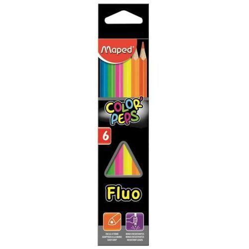 Maped Kredki colorpeps fluo trójkątne fluo 6 sztuk (3154148320036)