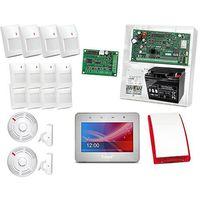 Zestaw alarmowy: Płyta Integra 128-WRL, Manipulator INT-TSG-SSW, 8xCzujnik AQUA PET, 4xCzujka GREY, 2xCzujnik Ciepła i dymu TSD-1, 2xCzujnik zalania FD-1, sygnalizator zewnętrzny SP-4002,akcesoria