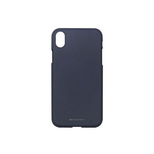 Apple iPhone XR - Mercury Goospery Soft Feeling - granatowy, kolor niebieski