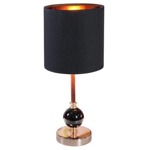 Stojąca LAMPA stołowa MELBA 41-38791 Candellux abażurowa LAMPKA biurkowa do gabinetu miedź czarna, 41-38791