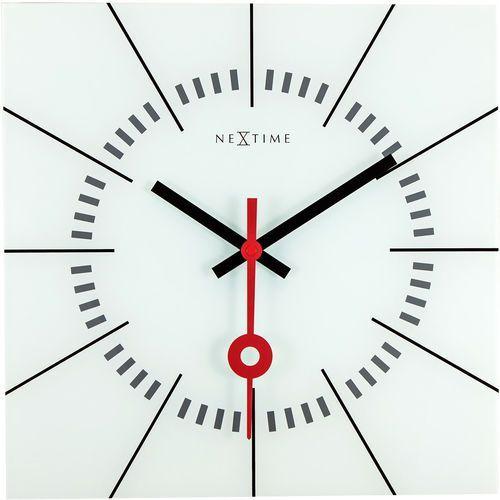 Zegar ścienny Nextime Stazione 35 x 35 cm, biały (8636 WI), kolor biały