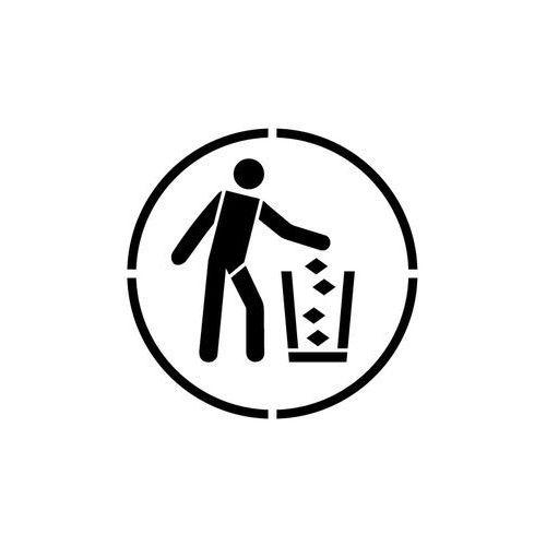Szablon do malowania znak nakaz używania pojemnika na śmieci go030 - 15x15 cm marki Szabloneria