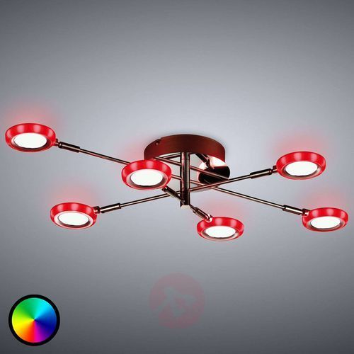 Trio -leuchten turner lampa sufitowa led chrom, 6-punktowe - nowoczesny - obszar wewnętrzny - turner - czas dostawy: od 4-8 dni roboczych (4017807353976)