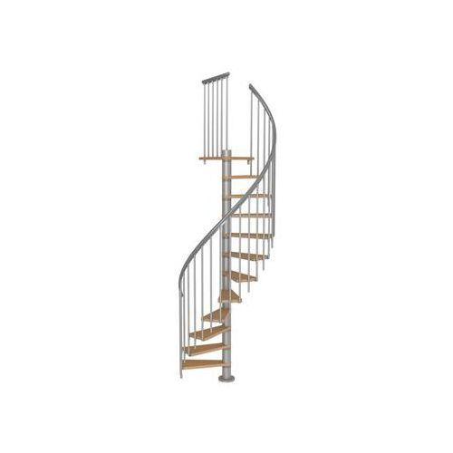 Schody spiralne z dodatkowymi tralkami calgary srebrne marki Dolle