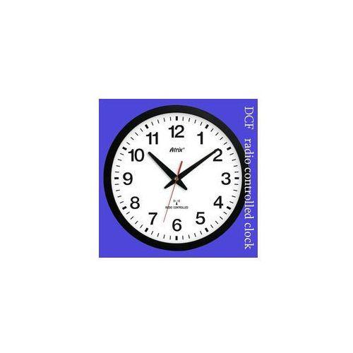 Zegar czarny sterowany radiowo #1, kolor czarny