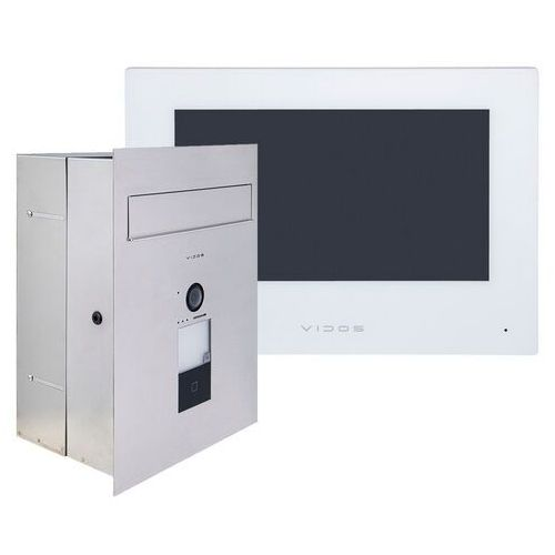 Zestaw wideodomofonu IP skrzynka na listy Vidos M2010W-S2401-SKP