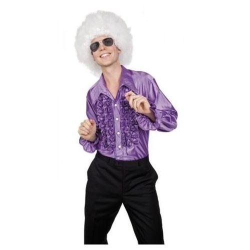 Koszula z falbanami fioletowa - M, L, XL - stroje/przebrania dla dorosłych