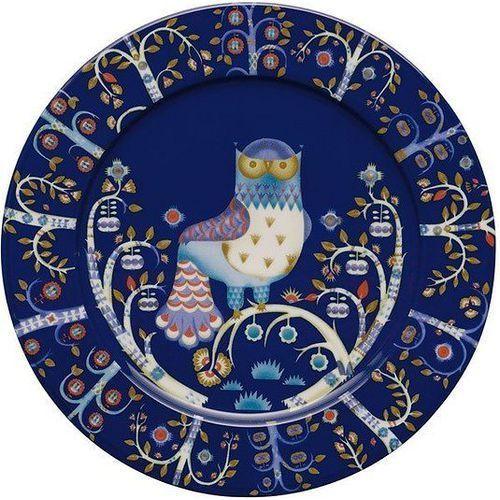 Talerz płaski 30 cm Taika niebieski