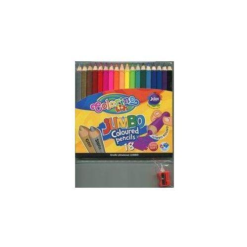 Katolicki uniwersytet lubelski jana pawla ii Kredki ołówkowe jumbo 18 kolorów z temperówką colorino + zakładka do książki gratis (5907690833114)