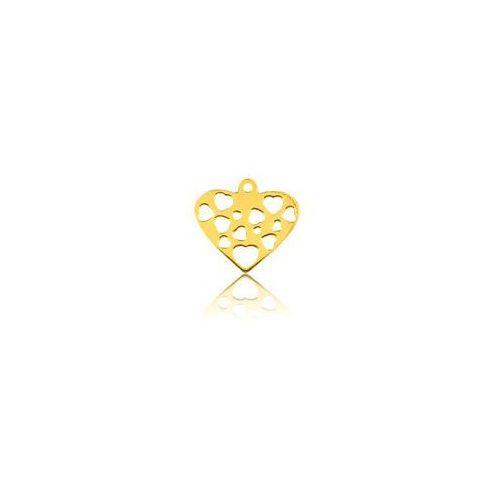 925.pl Blaszka ażurowa serce, złoto próba 585