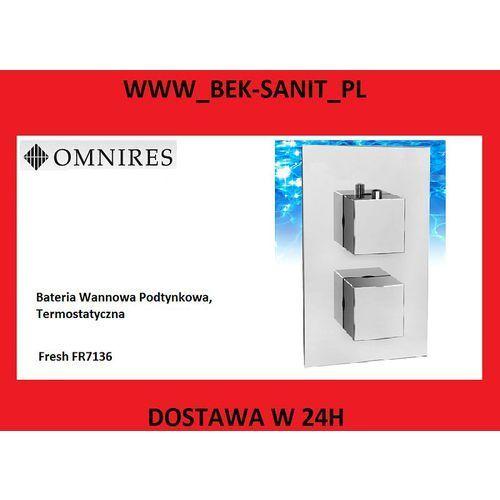 Bateria Omnires Bateria wannowa fresh fr7136 omnires termostatyczna podtynkowa chrom FR7136