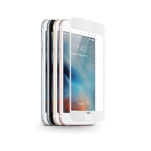 Szkło ochronne z ramką 3d glass screen protector apple iphone 6 plus / 6s plus biały - biały marki Jcpal