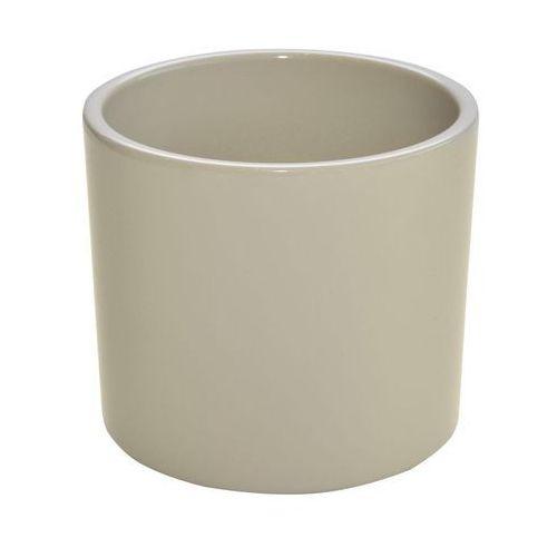 Ceramik Osłonka ceramiczna 32 cm beżowa walec