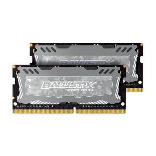 Pamięć DDR4 SODIMM Crucial 8GB (2x4GB) 2400MHz Ballistix Sport LT CL16, BLS2C4G4S240FSD