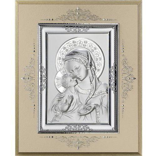 Srebrny obrazek Matka Boża z Dzieciątkiem, 033502MB