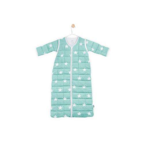 Jollein - Śpiworek do spania z odpinanymi rękawkami, Mięta Little star , 0-6 m-cy, 70 cm, 016-548-65027