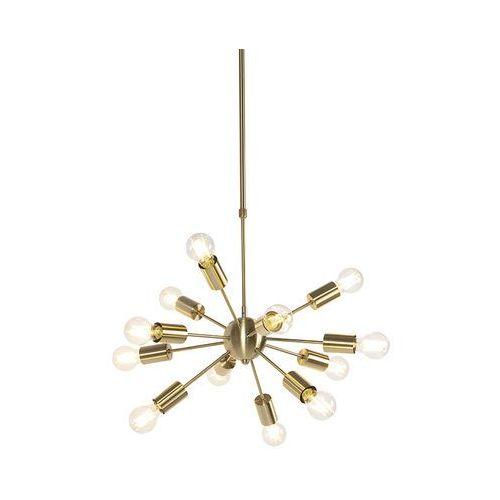 Qazqa Lampa wisząca w stylu vintage złota 60cm 12-lampka z regulowanym drążkiem - facil