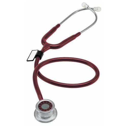 Mdf Stetoskop  pulse time 740 z zegarem - burgundowy (6940211617946)
