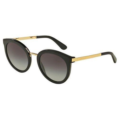 Okulary Słoneczne Dolce & Gabbana DG4268F Asian Fit 501/8G, kolor żółty