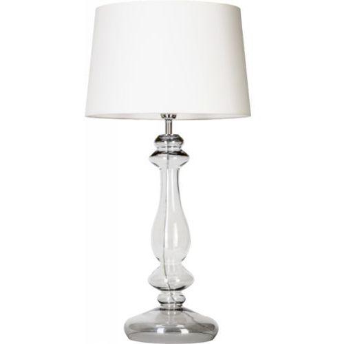 lampa stołowa VERSAILLES TRANSPARENT BLACK z białym kloszem, 4 CONCEPTS L204361228