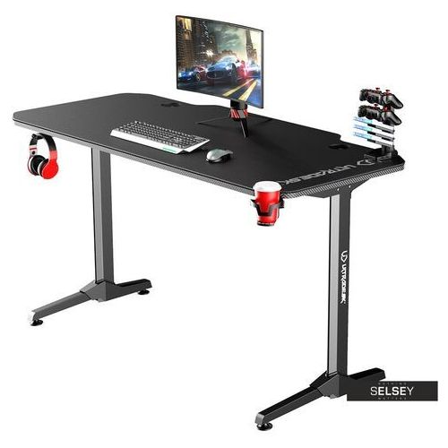 biurko gamingowe gamora czarne marki Selsey
