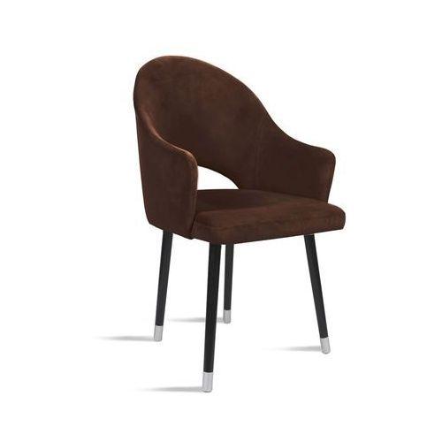 Krzesło BARI brąz / noga czarny silver/ TR7, kolor brązowy