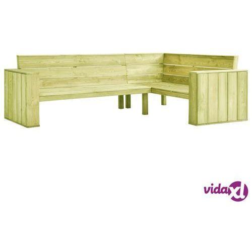 ogrodowa ławka narożna, 239 cm, impregnowane drewno sosnowe marki Vidaxl