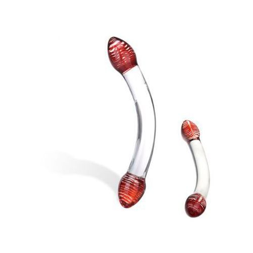 Szklane dildo -  red head double glass dildo marki Glas