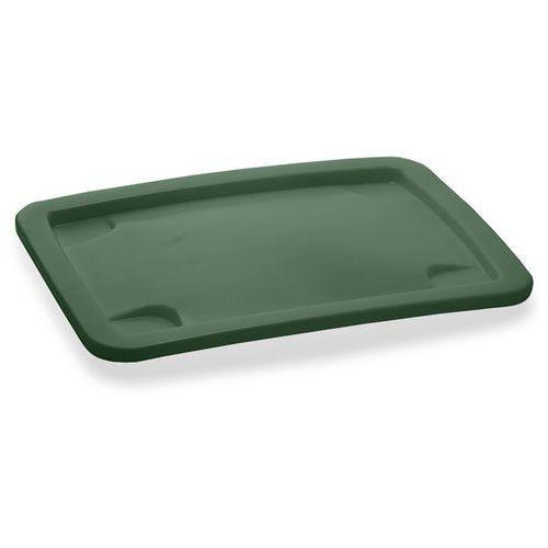 Craemer Pokrywa do dużego pojemnika, do wym. pojemnika 210 l, zielony.