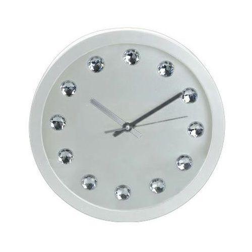 Zegar Intesi Diamanti biały, kolor biały