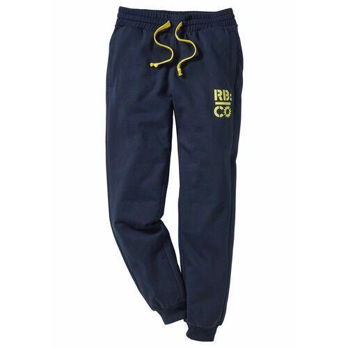 Spodnie dresowe Slim Fit bonprix ciemnoniebieski, kolor niebieski