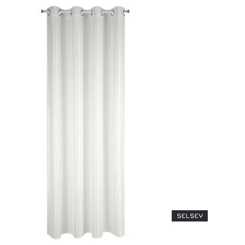 Selsey firana zumkas 140x250 cm biała