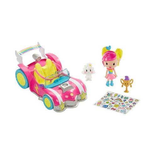 dtw18 barbie w świecie gier pojazd + minifigurki 3+ marki Barbie