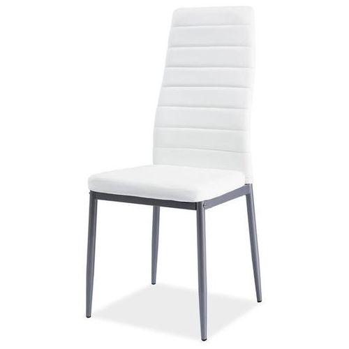 Krzesło z ekoskóry h261 alu marki Signal