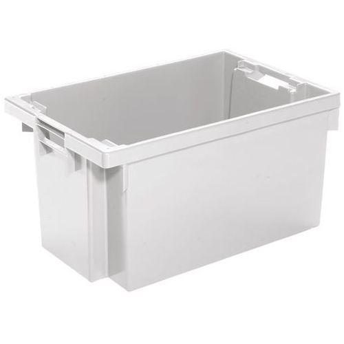 Werit kunststoffwerke Obrotowy pojemnik do ustawiania w stos z hdpe, poj. 50 l, ścianki i dno zamknięt