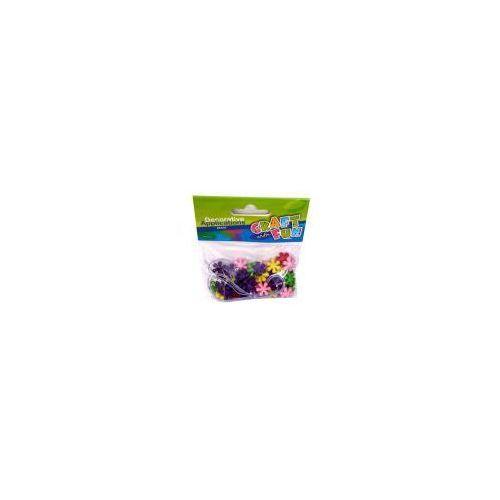 Ozdoba dekoracyjna koraliki plastikowe kwiaty (5901350295359)