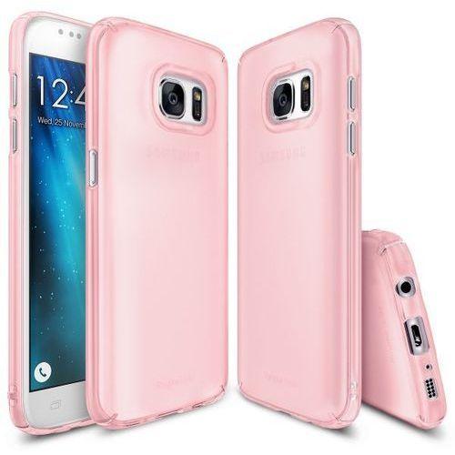 Rearth Ringke Slim Frost Pink | Obudowa + folia ochronna dla modelu Samsung Galaxy S7 Edge (8809478826004)