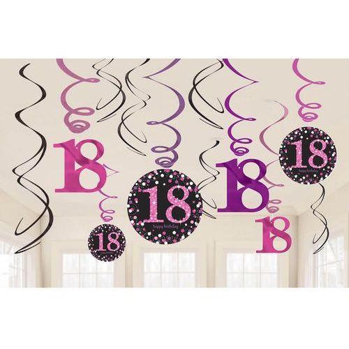 Świderki, dekoracja na 18 urodziny różowa Sparkling Celebration (0013051637453)