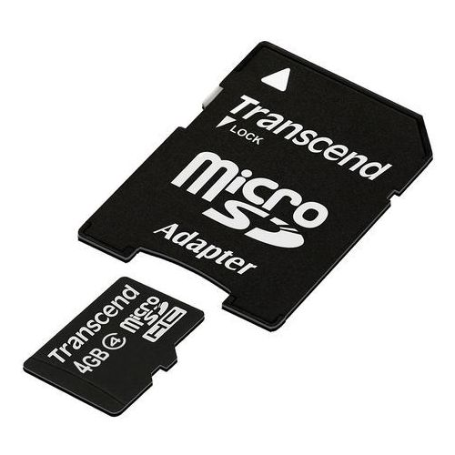 Transcend microSD 8GB Class4 + adapter, tr12