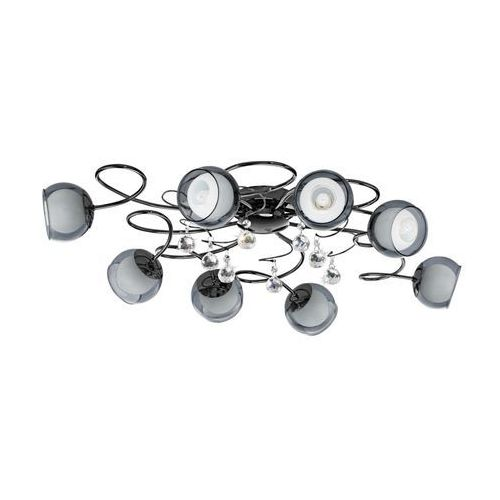 Plafon Eglo Ascolese 1 95161 oprawa sufitowa 8x2,5W G9 LED niklowany czarny, 95161