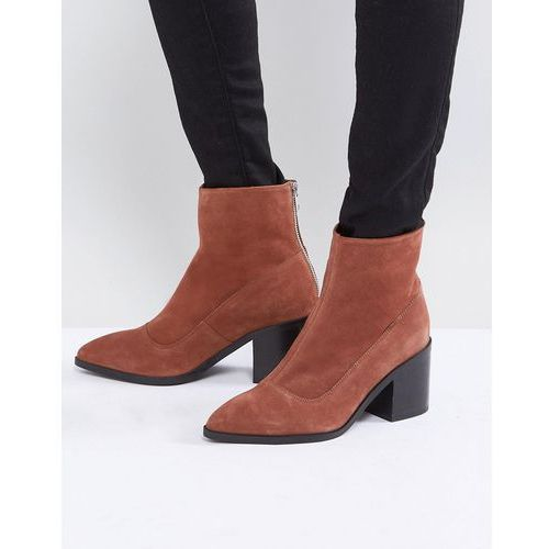 ASOS ROXANNA Suede Pointed Ankle Boots - Tan, ankle