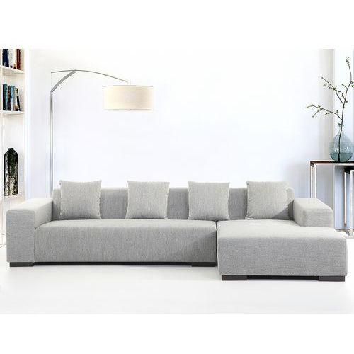 Sofa szara - sofa narożna l - tapicerowana - lungo marki Beliani