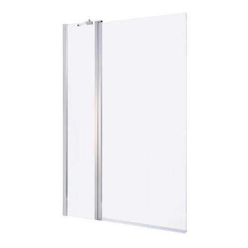 Parawan nawannowy Cooke&Lewis Calera 2-częściowy 140 x 105 cm chrom/szkło transparentne