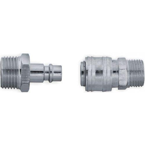 Komplet szybkozłączek PANSAM A535402 gwint zewnętrzny 1/4 cala