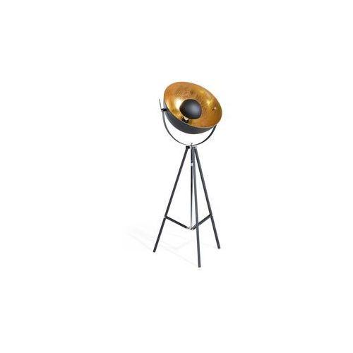 Lampa podłogowa metalowa czarno-złota THAMES II