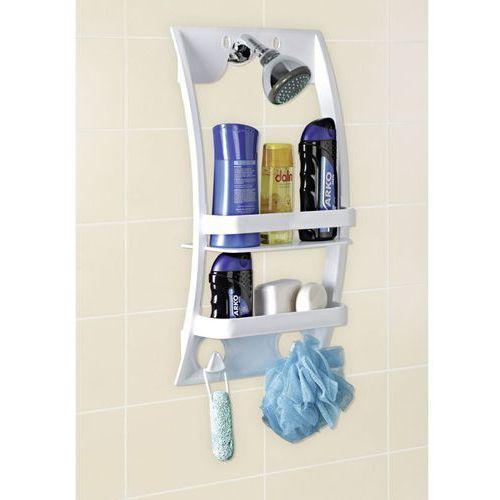 OKAZJA - Uniwersalna półka łazienkowa - półka do montowania na kabinie lub drzwiach w łazience, WENKO (4008838248409)