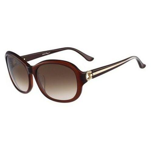 Salvatore ferragamo Okulary słoneczne sf 740sra 210